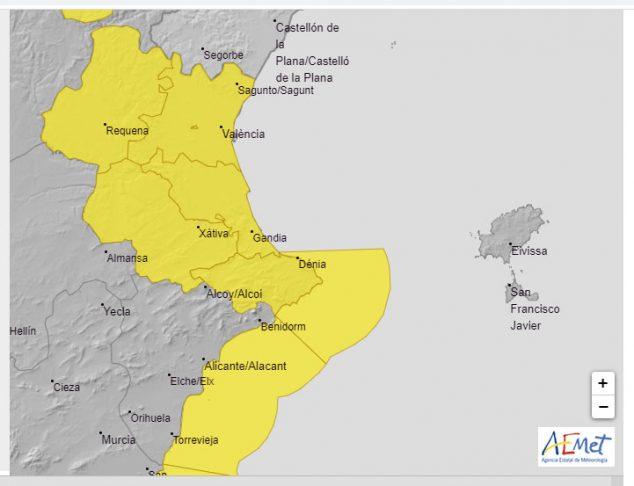 Imagen: Alerta amarilla por lluvia y mar martes