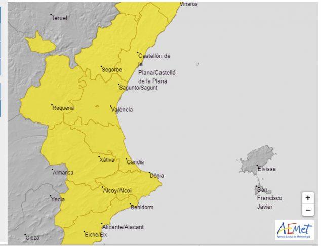 Imagen: Alerta amarilla por lluvias lunes