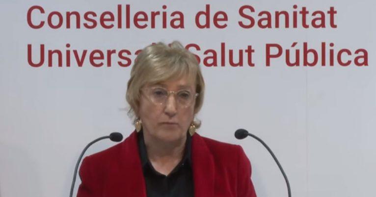 Ana Barceló, consellera de Sanidad