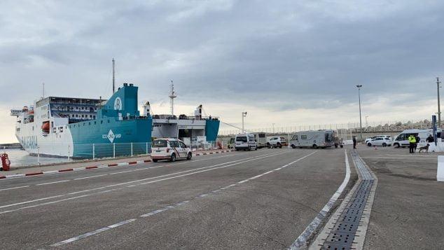 Imagem: Baleària transporta caravanas de Tânger para França