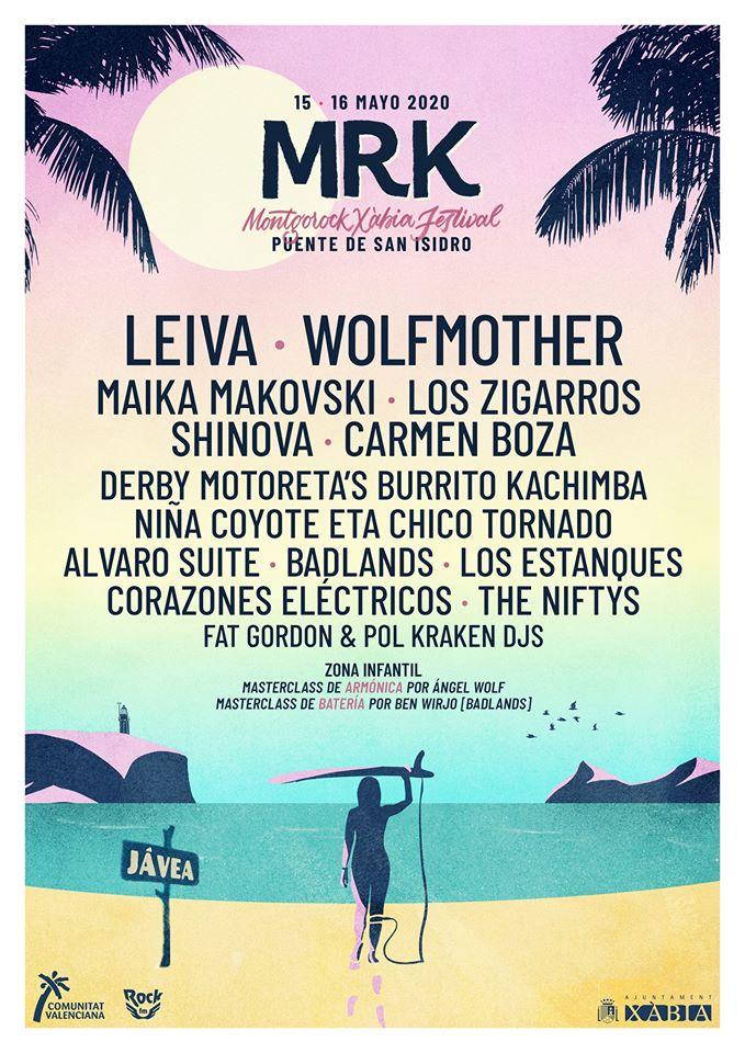 Cartel completo Montgorock Xàbia Festival 2020