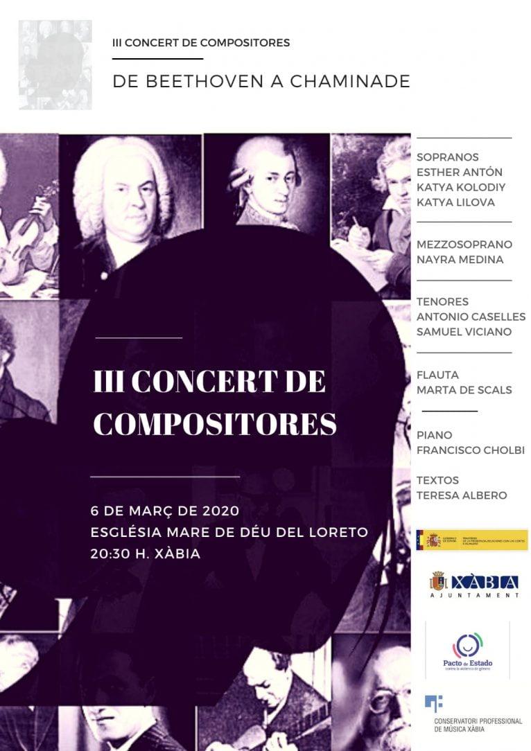 Cartel del concierto de Compositoras