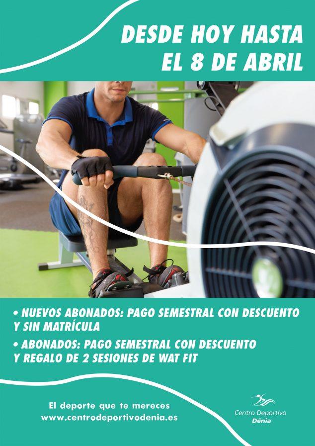 Imatge: Cartell de nova promoció per a abonats - Centre Esportiu Dénia