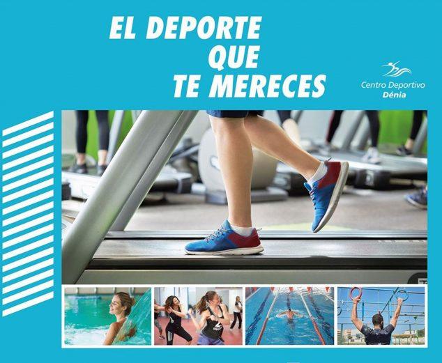 Imatge: L'esport que et mereixes, eslògan de Centre Esportiu Dénia