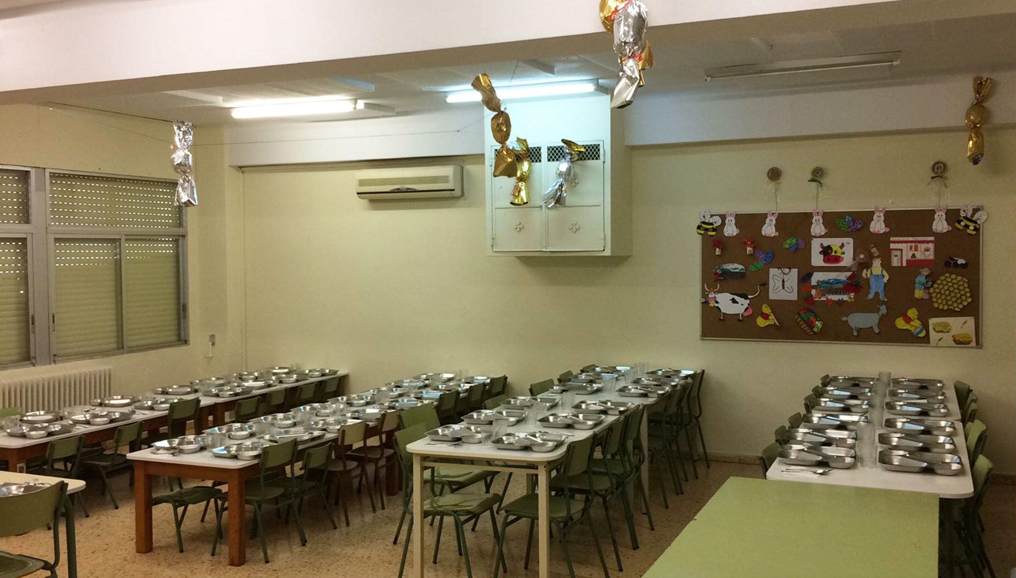 Comedor del CEIP Trenc d'Alba de Jávea