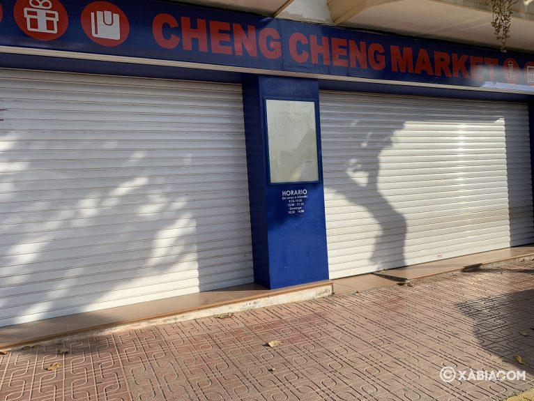 Comercio chino cerrado por vacaciones
