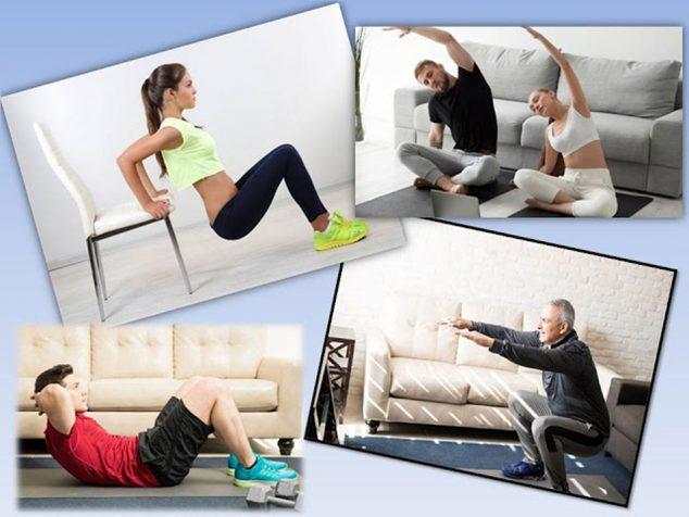 Imagem: Tipos e frequência de exercícios que podemos fazer em casa nesta quarentena