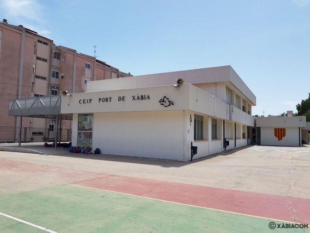 Imagen: Fachada del CEIP Port de Xàbia