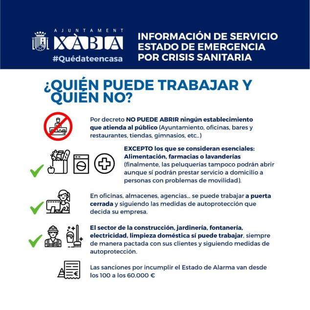 Imagen: Información de servicio trabajadores