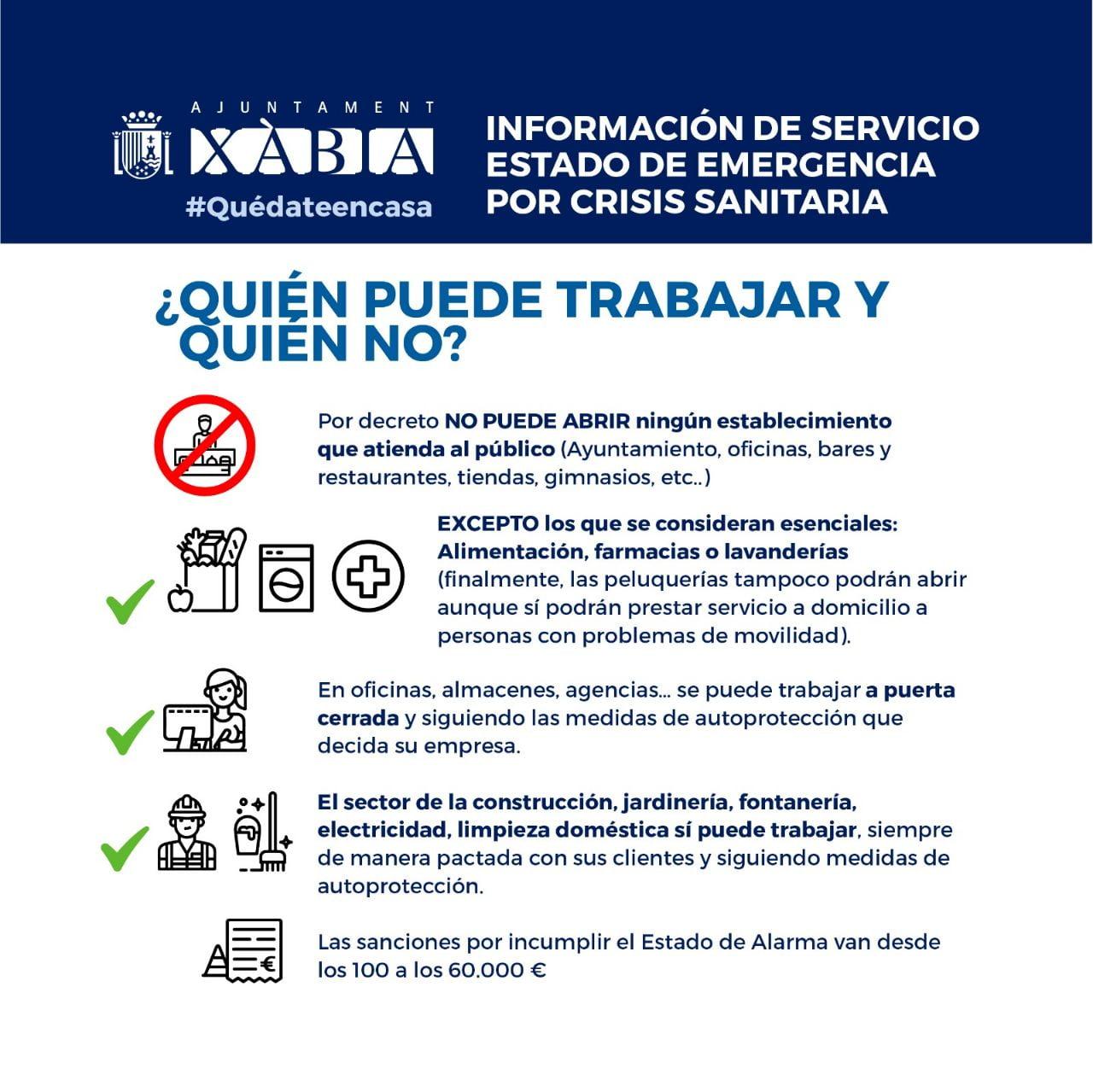 Información de servicio trabajadores