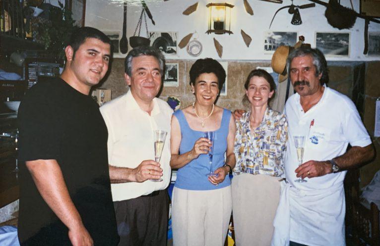 José Bellés en una cata de su restaurante