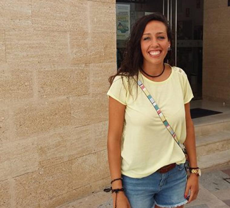 La futbolista Sandra Castelló en Xàbia