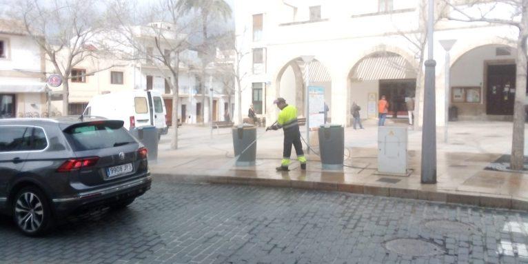 Labores de limpieza y desinfección en Xàbia