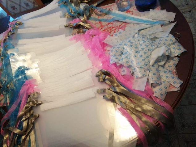 Imagen: Mascarillas fabricadas por miembros del Rotary Club
