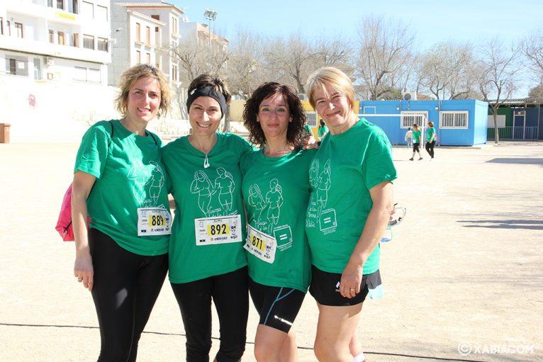 Mujeres participantes en la Cursa de la Dona