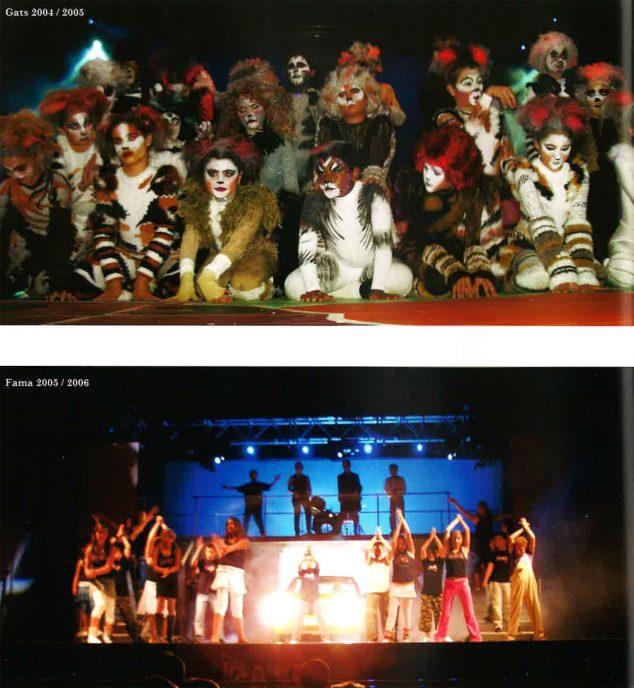Imagen: Los Musicales del Trenc d'Alba (Foto extraída del libro '25 anys al CEIP Trenc d'Alba', de 2009)