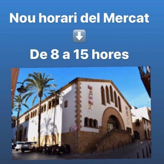 Imagen: Nuevo horario Mercat