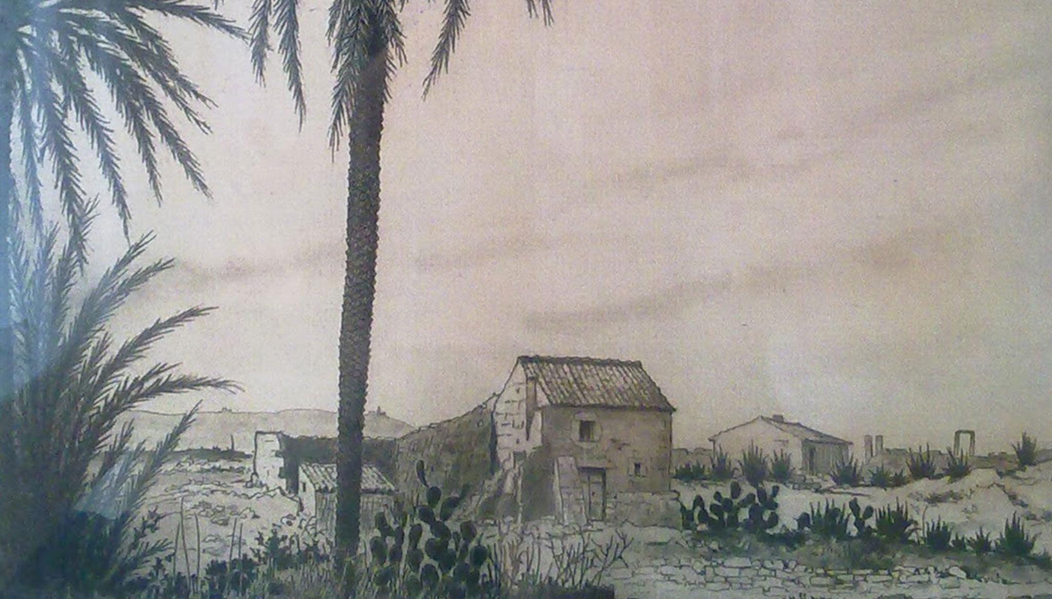 Paisaje rural del ilustrador, pintor y grabador André Lambert