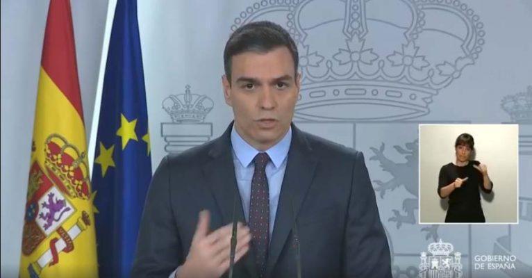 Pedro Sánchez en la comparecencia