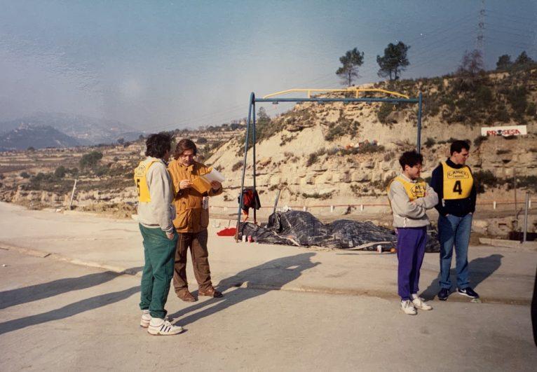 Pepe Bellés en las pruebas del Camel Trophy