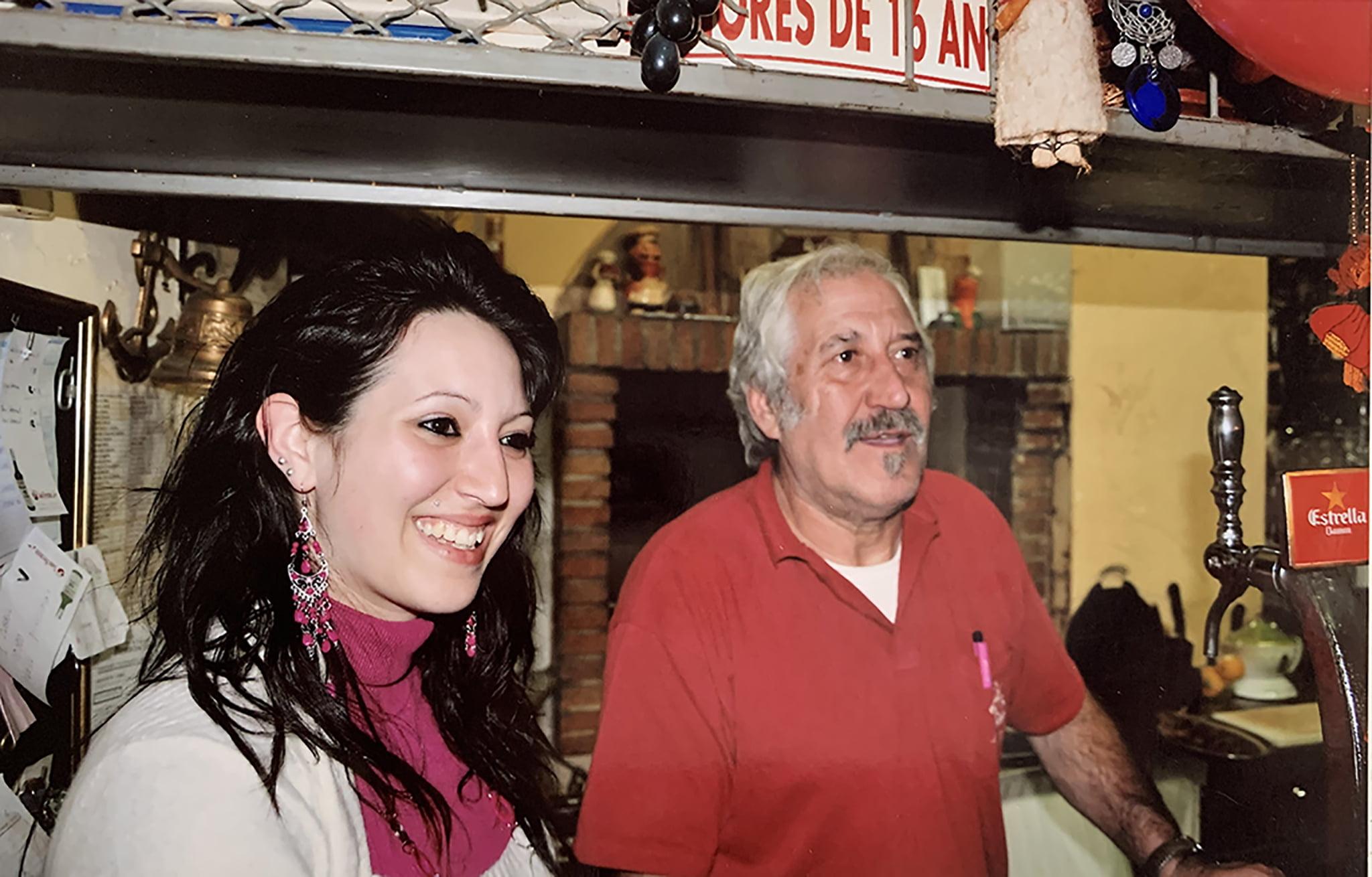 Pepe junto a su hija Carolina en La Parrilla del Celler