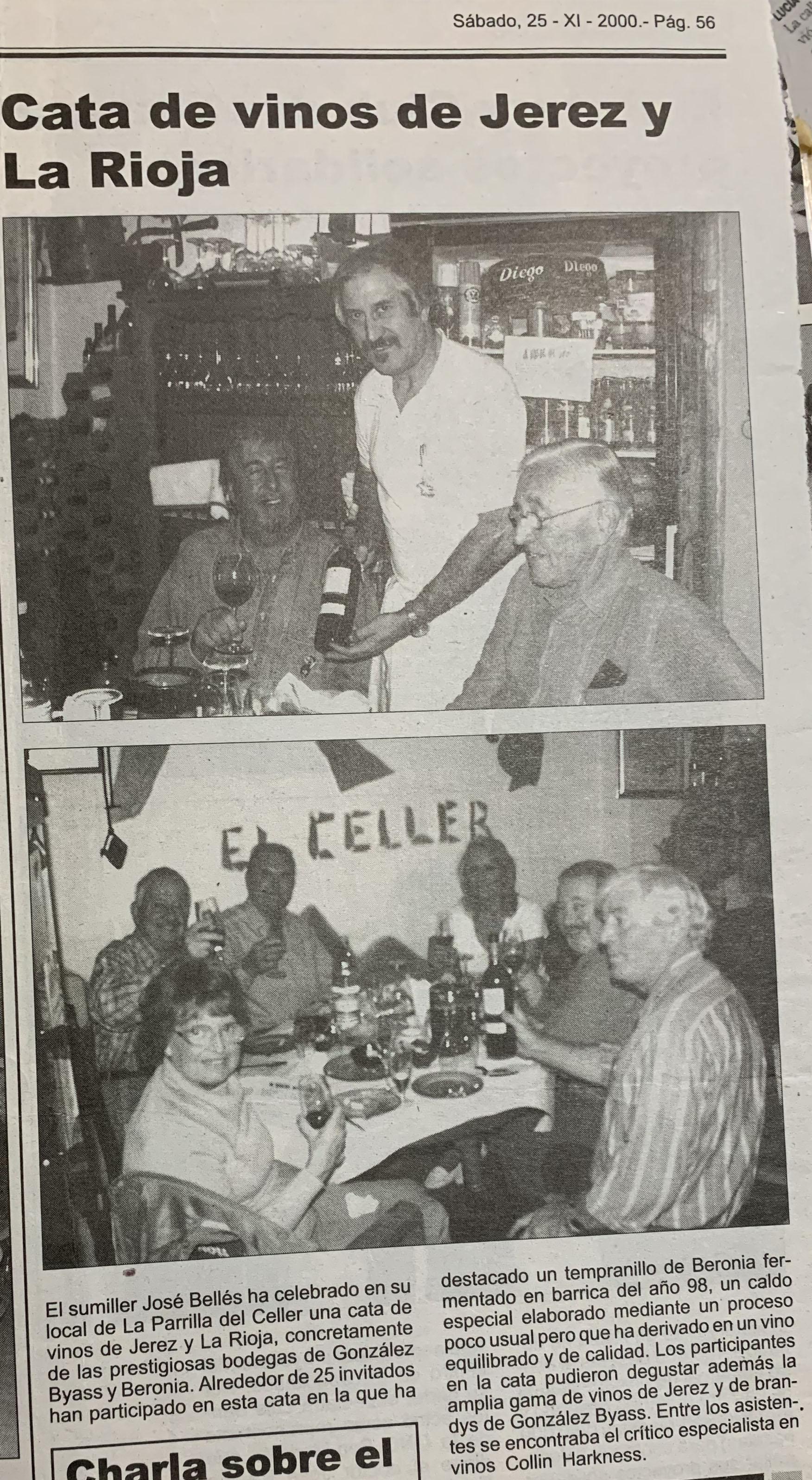 Publicación de la Cata realizada en el año 2000