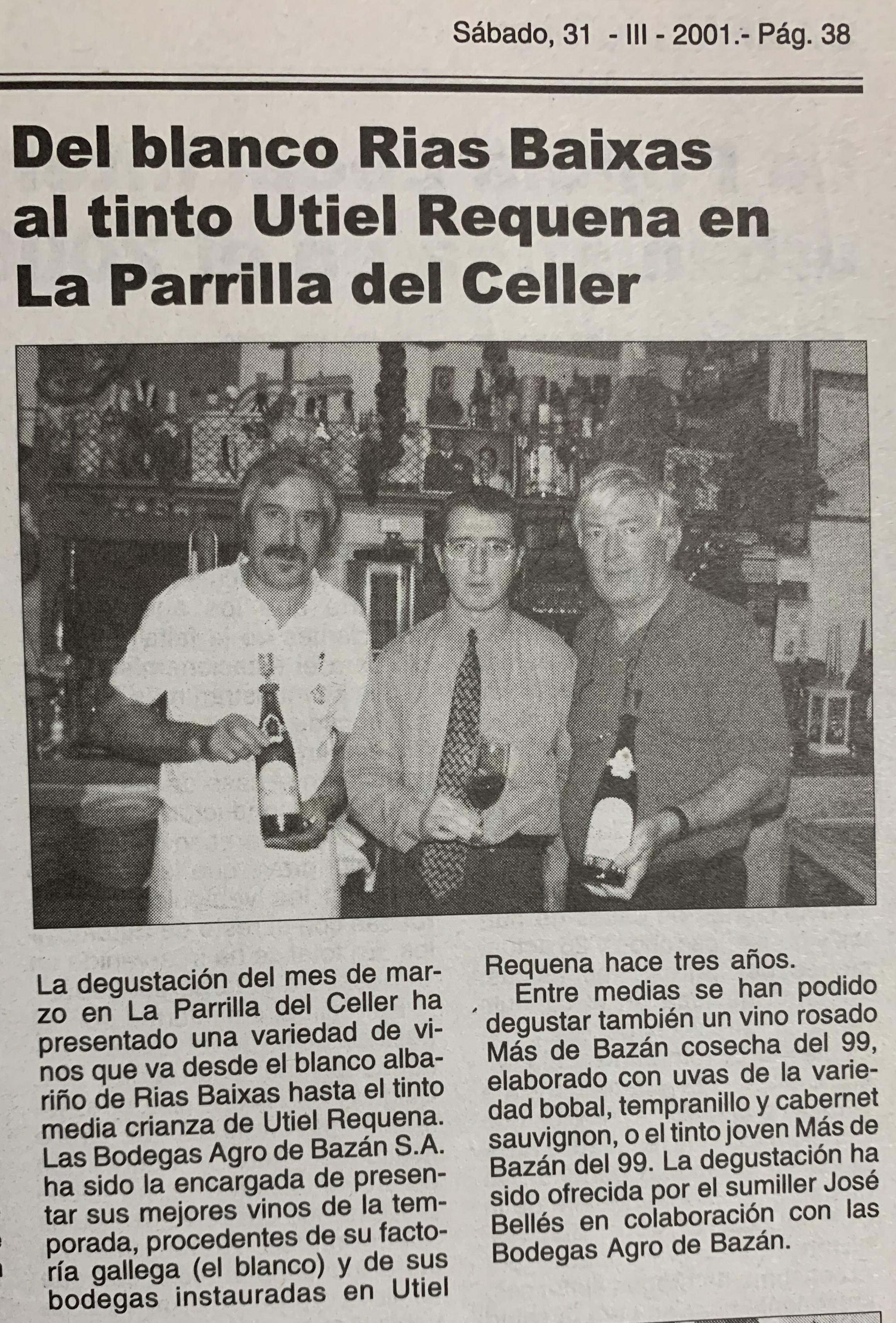 Publicación en prensa comarcal sobre las catas en Xàbia