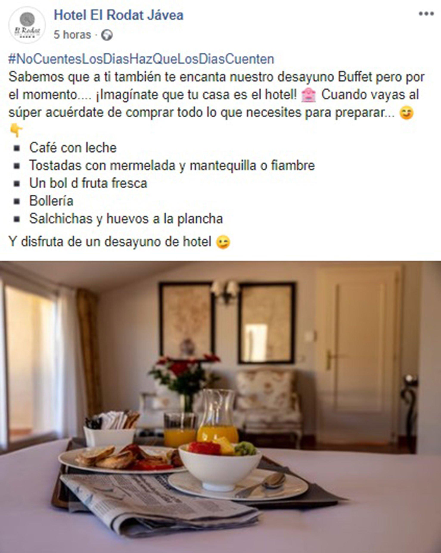 Hotel El Rodat ha anat més enllà i ha creat una etiqueta per agrupar la conversa dels seus seguidors
