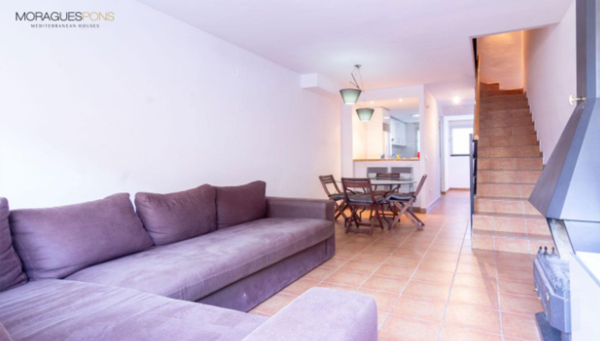 Salón de un adosado en venta en Jávea – MORAGUESPONS Mediterranean Houses