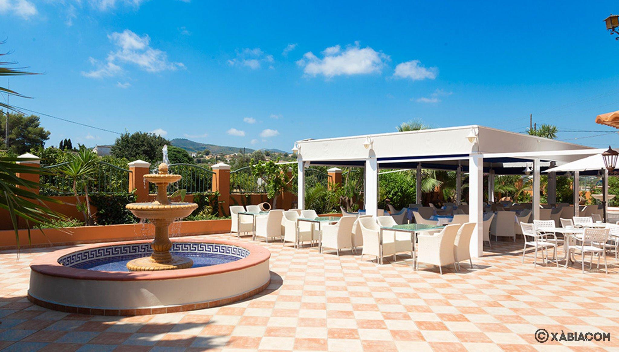 Terraza con vistas en Restaurante Canali