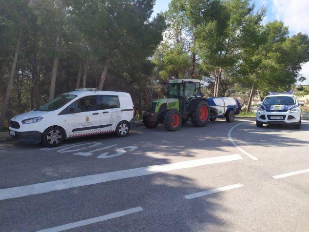 Immagine: trattore spray disinfettante Benitatxell