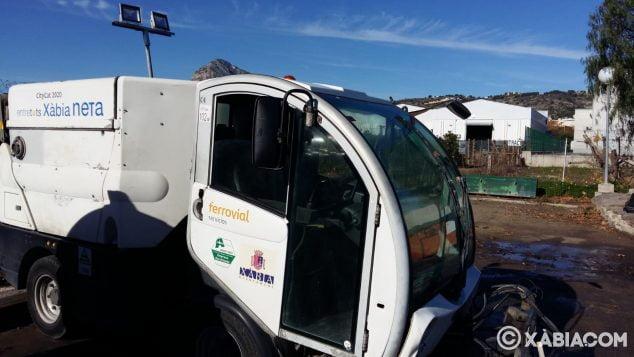 Imagen: Vehículo de limpieza Xàbia