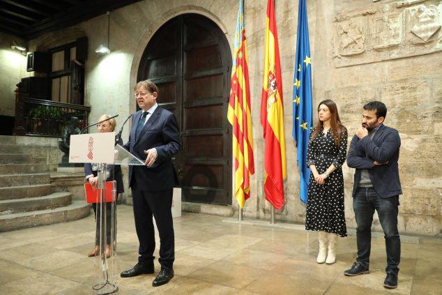 Imagen: Ximo Puig anuncia la suspensión de toda la actividad educativa