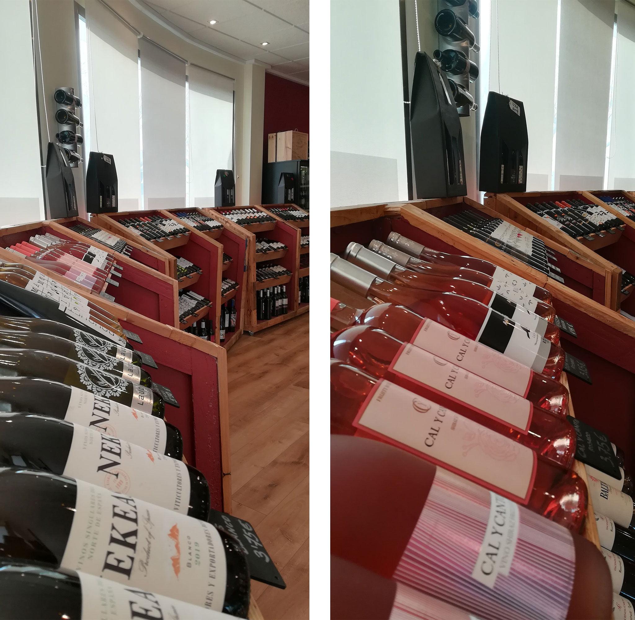 Zona de vinos low cost en Casa del Vino