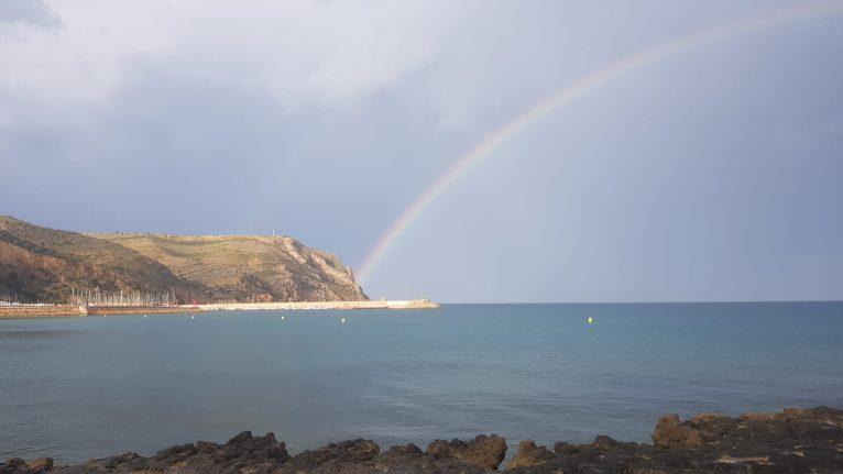 Arco íris en Xàbia- Foto de Ana Català