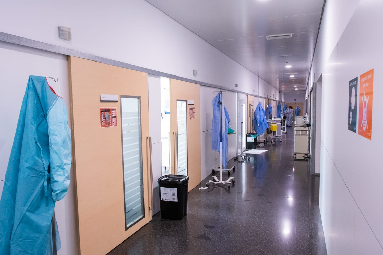 Circuito de coronavirus en el Hospital de Dénia
