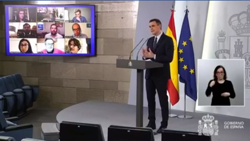 Comparecencia de Pedro Sánchez