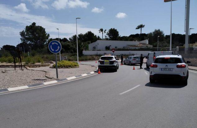 Imagen: Control de la Policía Local de Xàbia