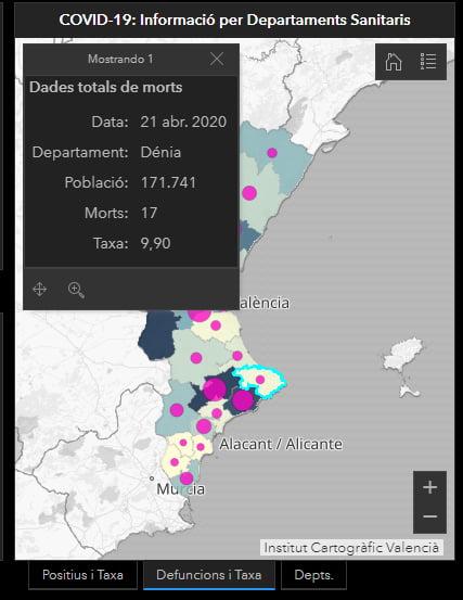Imagem: Dados da morte na Marina Alta