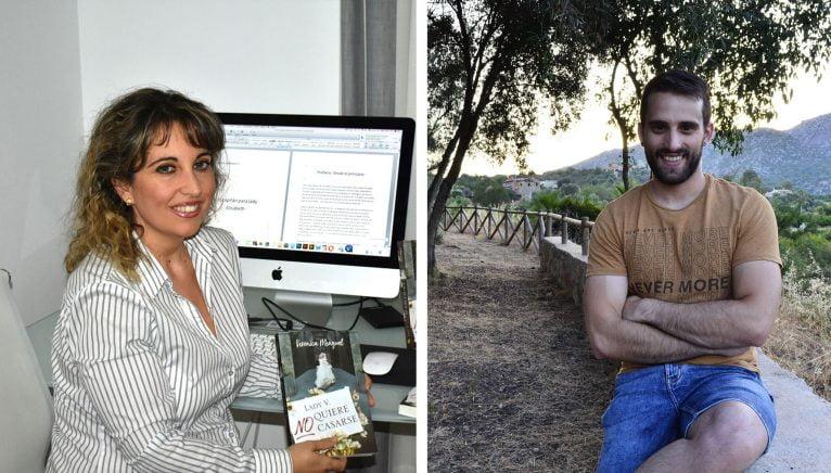 Los escritores de nuestra comarca Verónica Mengual y Javier Martínez