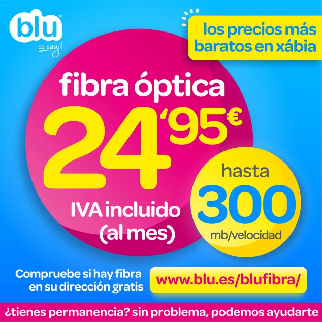 Imagen: Fibra óptica en Jávea al mejor precio - Blu