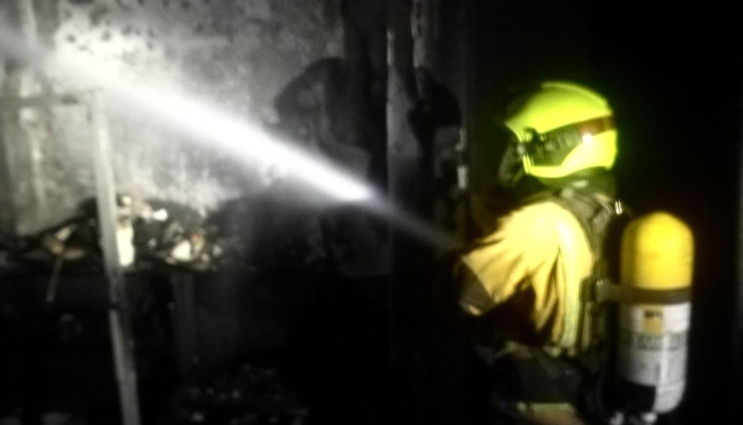 Incendio en Gata
