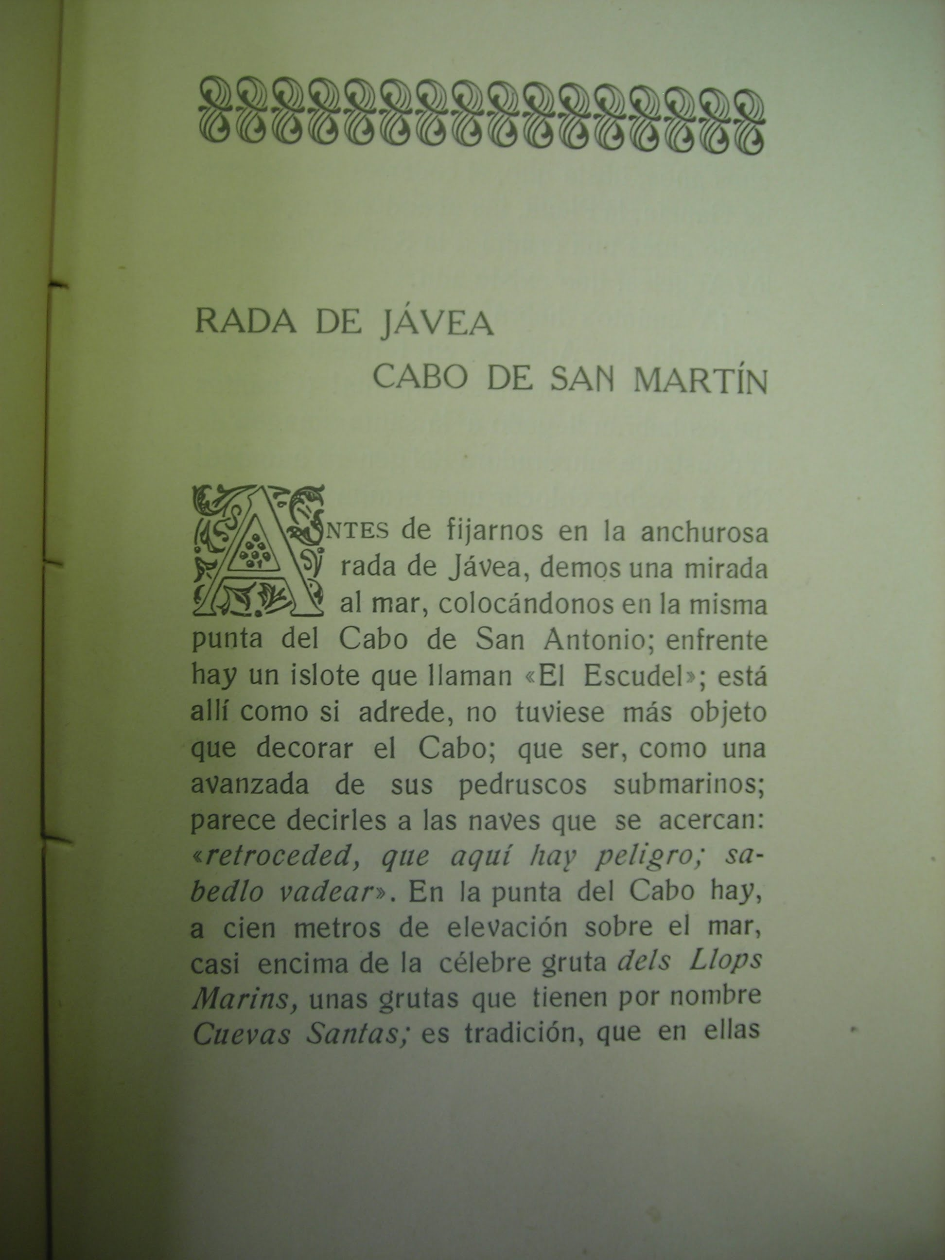 Página 35 del Libro Costas y Paisajes de la Marina de Alicante