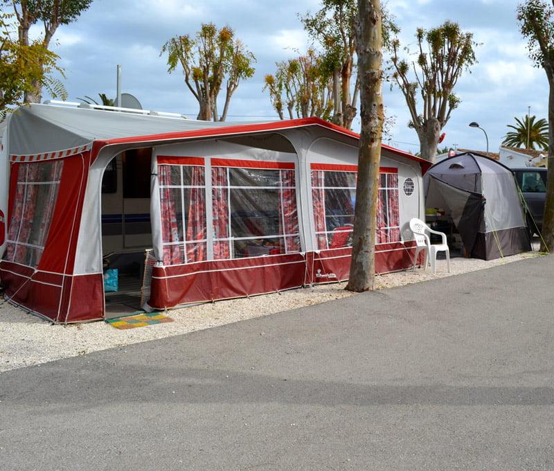 Parcela del camping El Naranjal