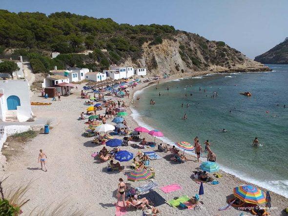 Playa de la Barraca en Xàbia