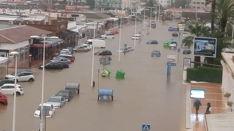 Playa del Arenal inundada – Pascua 2019