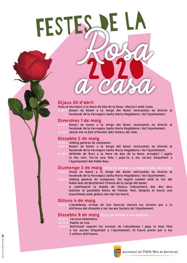 Imagen: Programación Festes de la Rosa 2020