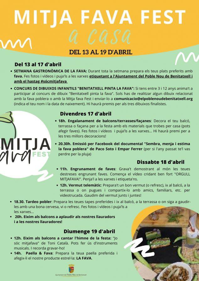 Imagen: Programación Mitjafavafest a Casa