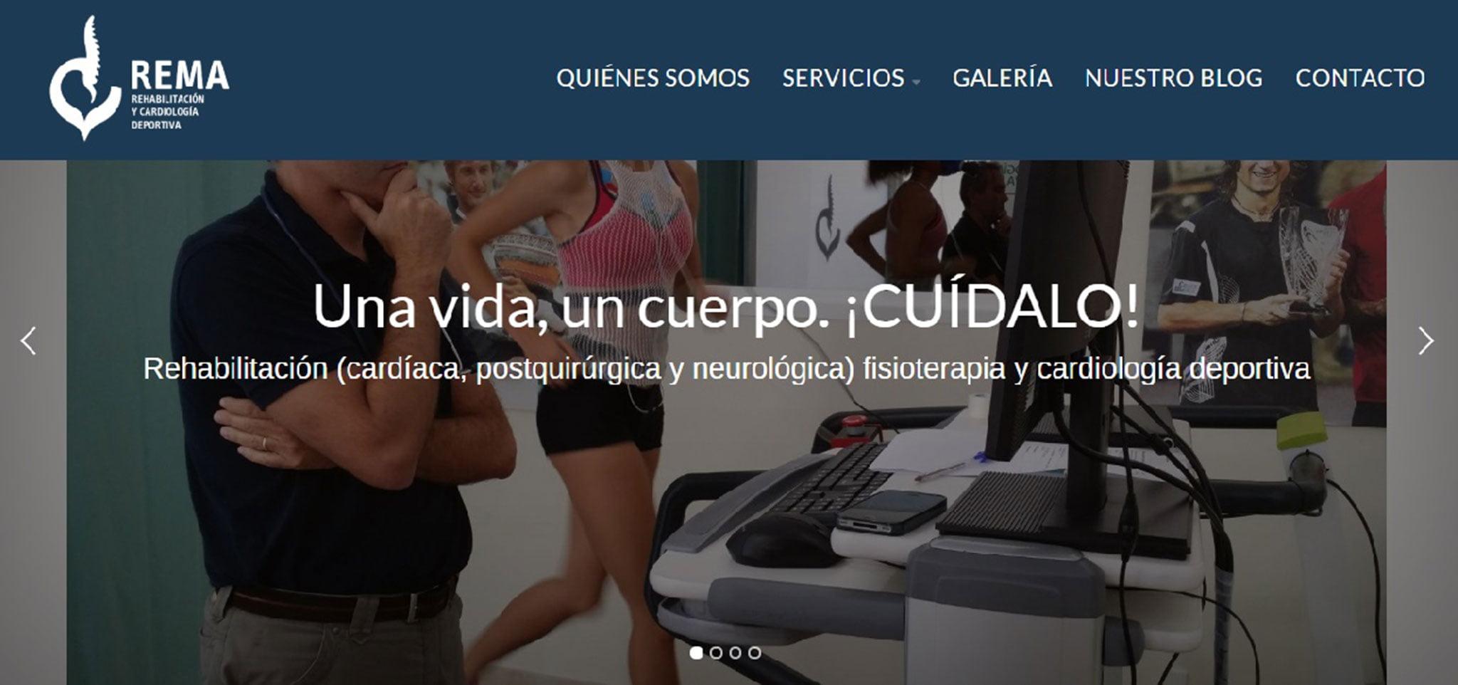 Imagen de la nueva web de REMA (Rehabilitación Marina Alta)