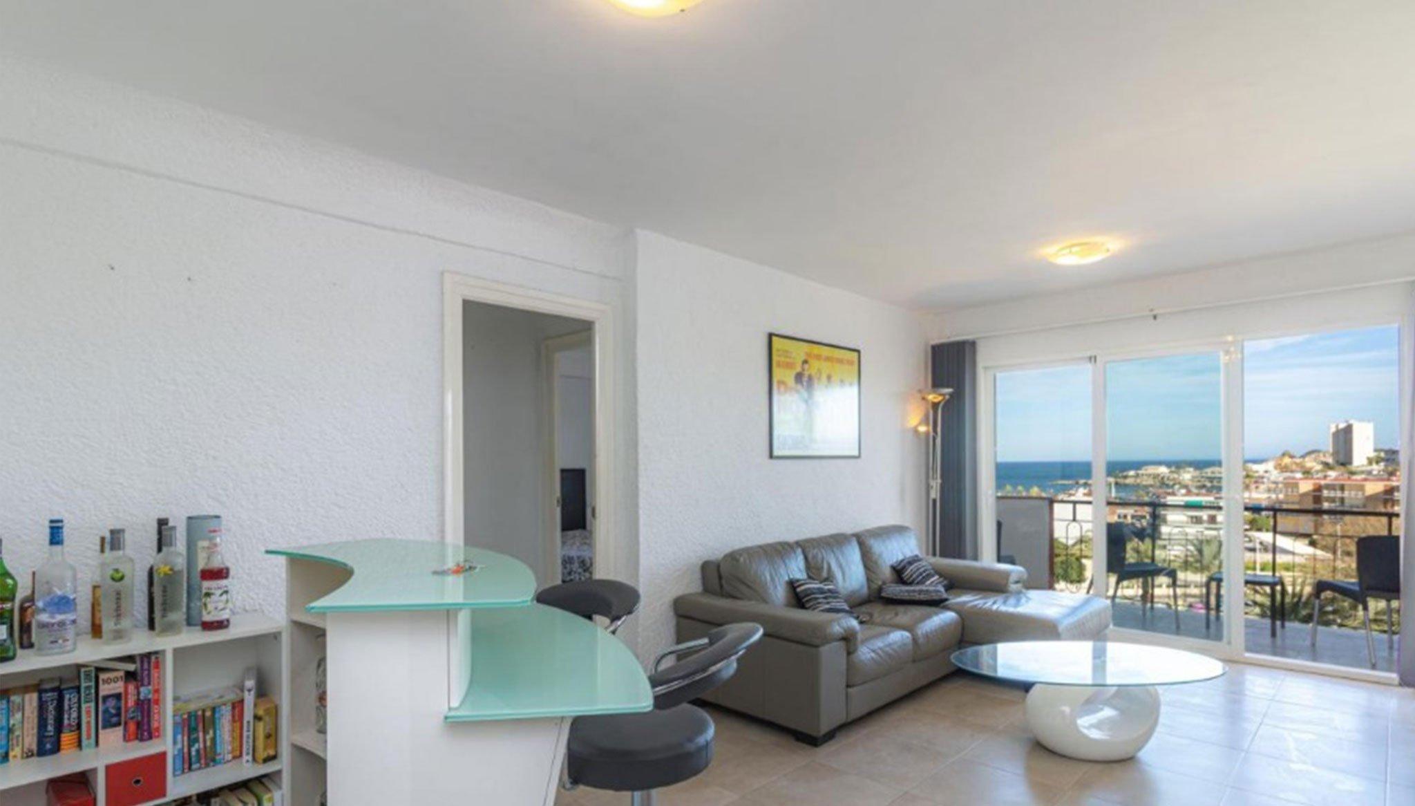 Salón de un apartamento en venta en Jávea – Vicens Ash Properties